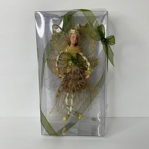 "Green & Gold 8"" Woodlands Fairy"
